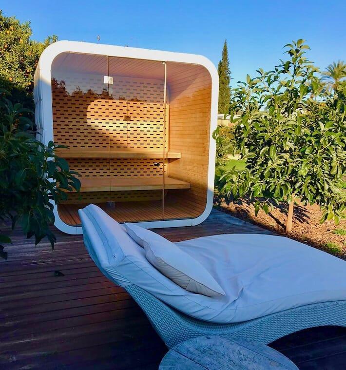 Hotels We Love: Agriturismo Atzaró, Ibiza - Sauna Pod (Ph. Alessandro Garzi)